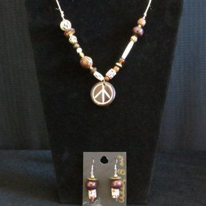 **New Hand Crafted** Original Necklace & Earrings